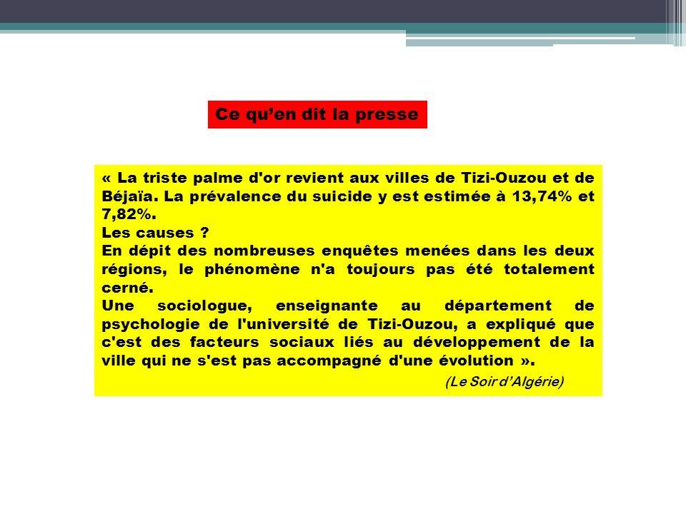 Ce qu'en dit la presse (Le Soir d'Algérie)