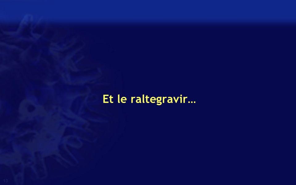 Et le raltegravir…