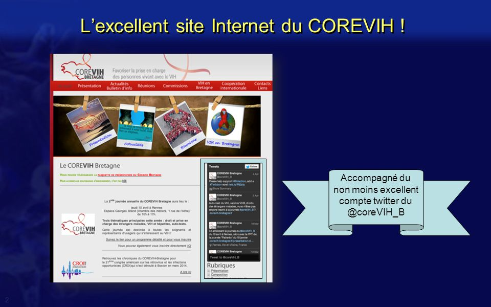L'excellent site Internet du COREVIH !