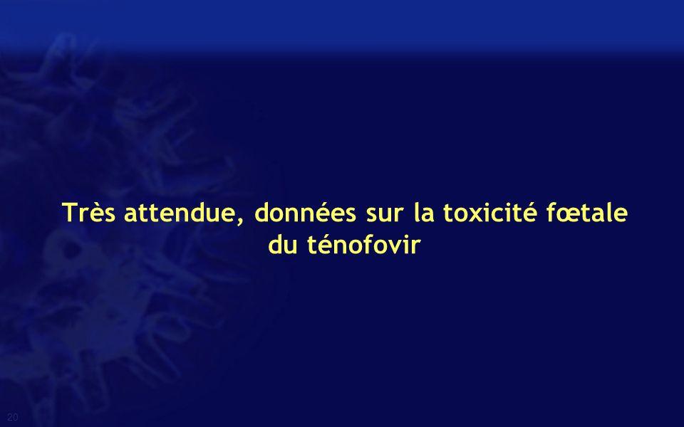 Très attendue, données sur la toxicité fœtale du ténofovir