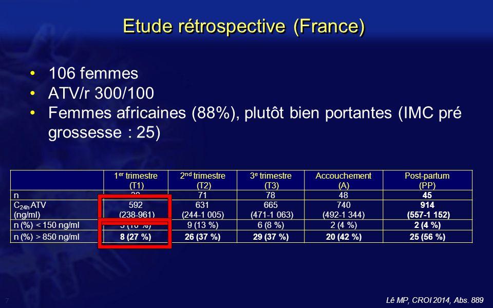 Etude rétrospective (France)