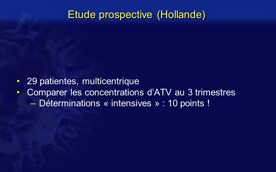 Etude prospective (Hollande)