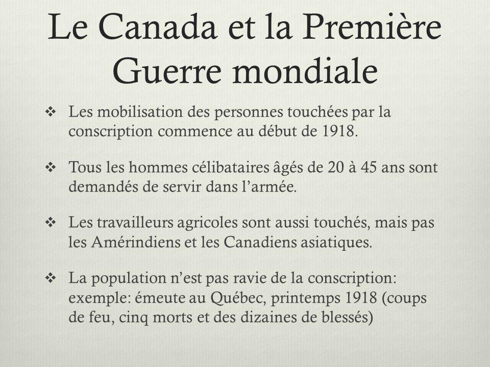 Le Canada et la Première Guerre mondiale