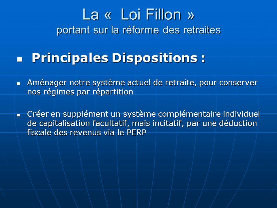 La « Loi Fillon » portant sur la réforme des retraites