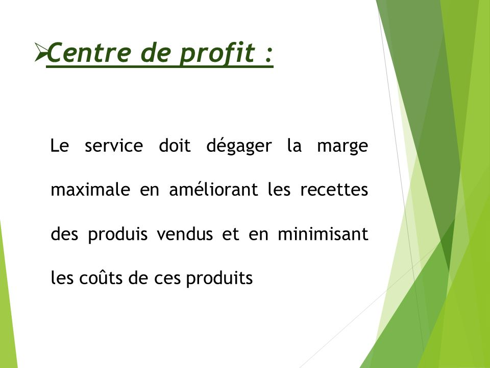 Centre de profit :