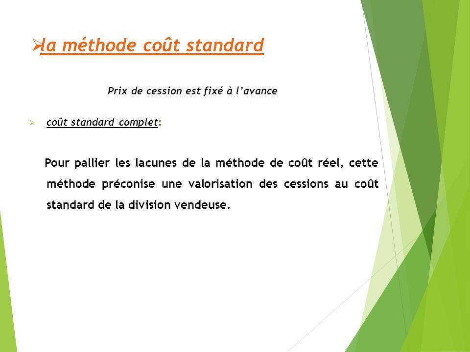 la méthode coût standard