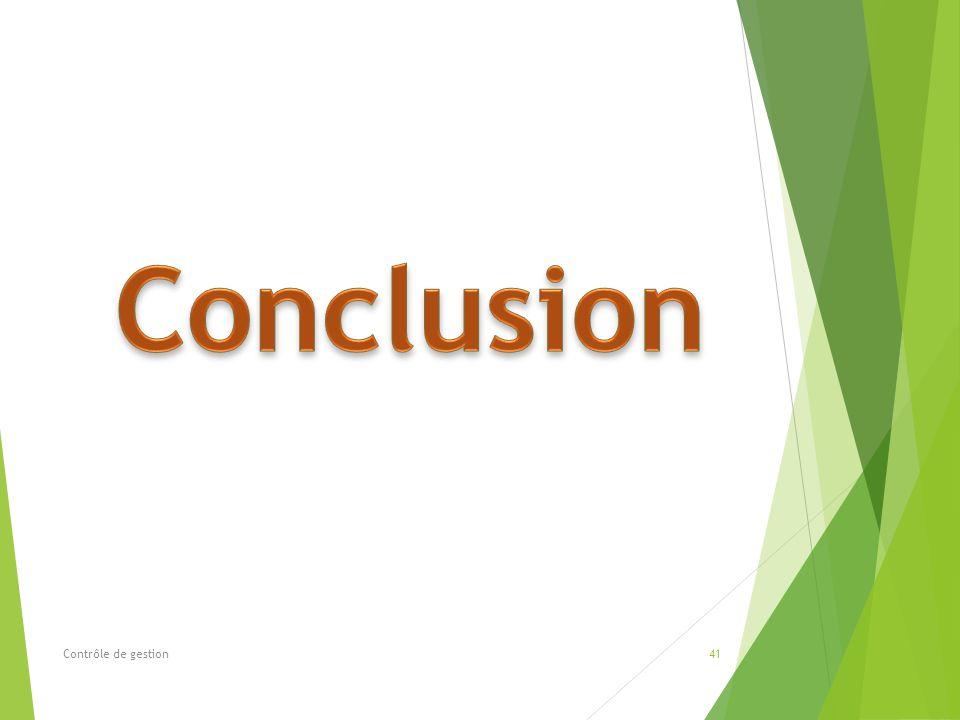 Conclusion Contrôle de gestion