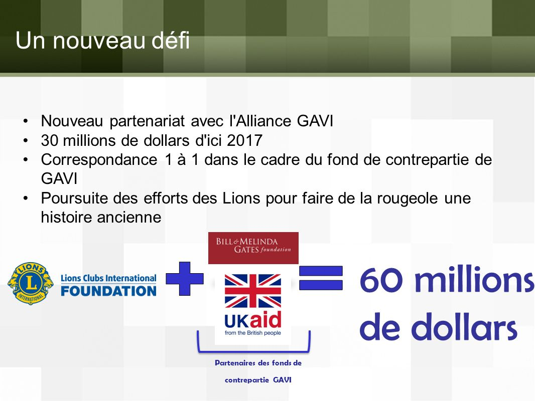 Partenaires des fonds de contrepartie GAVI