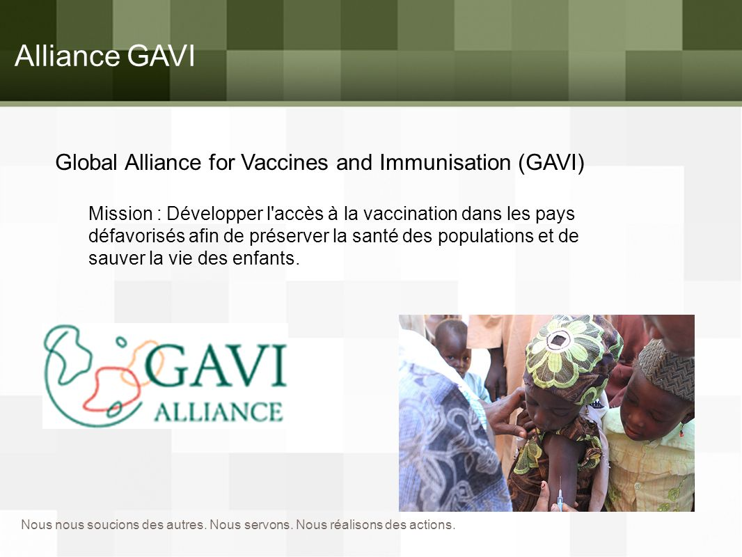 Alliance GAVI Global Alliance for Vaccines and Immunisation (GAVI)