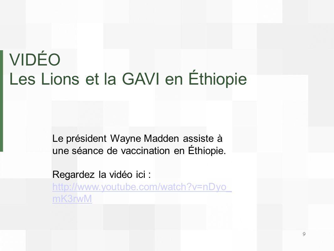 Les Lions et la GAVI en Éthiopie