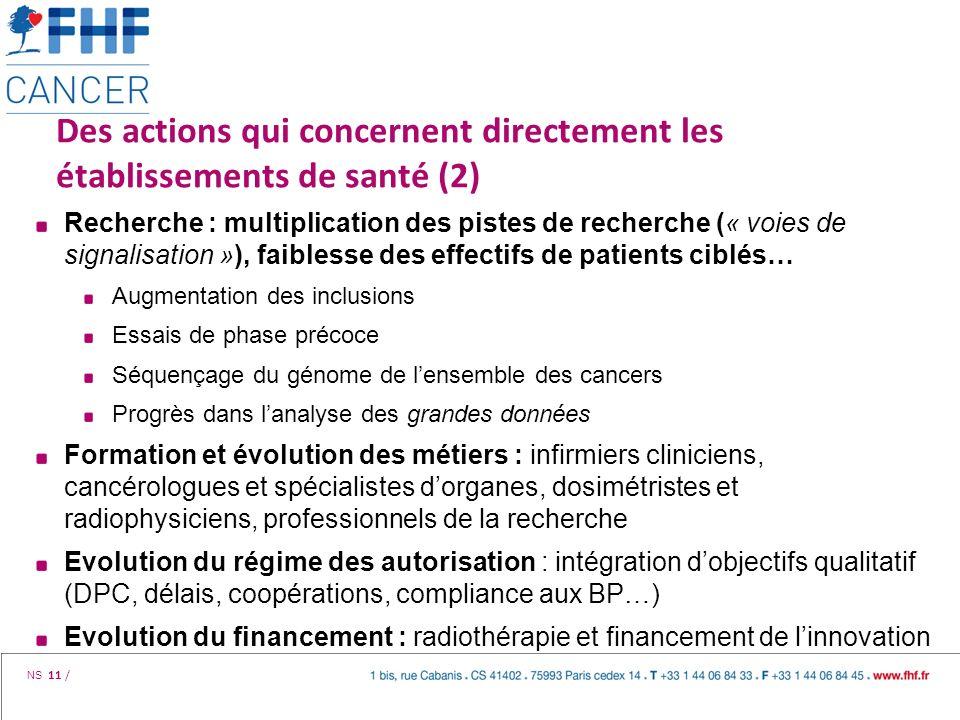 Des actions qui concernent directement les établissements de santé (2)