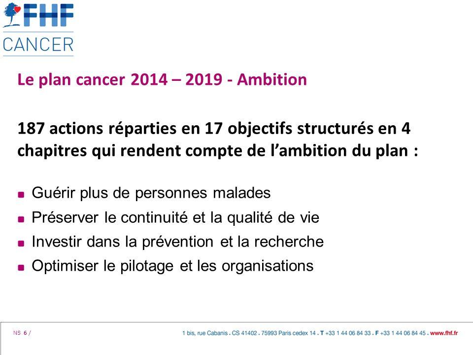 Le plan cancer 2014 – 2019 - Ambition