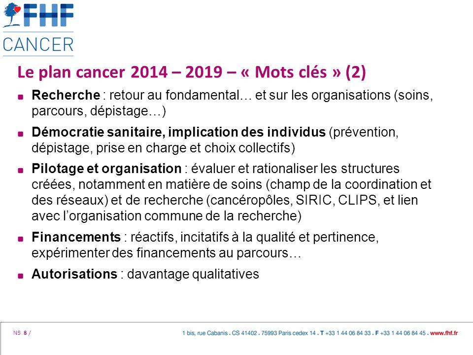 Le plan cancer 2014 – 2019 – « Mots clés » (2)