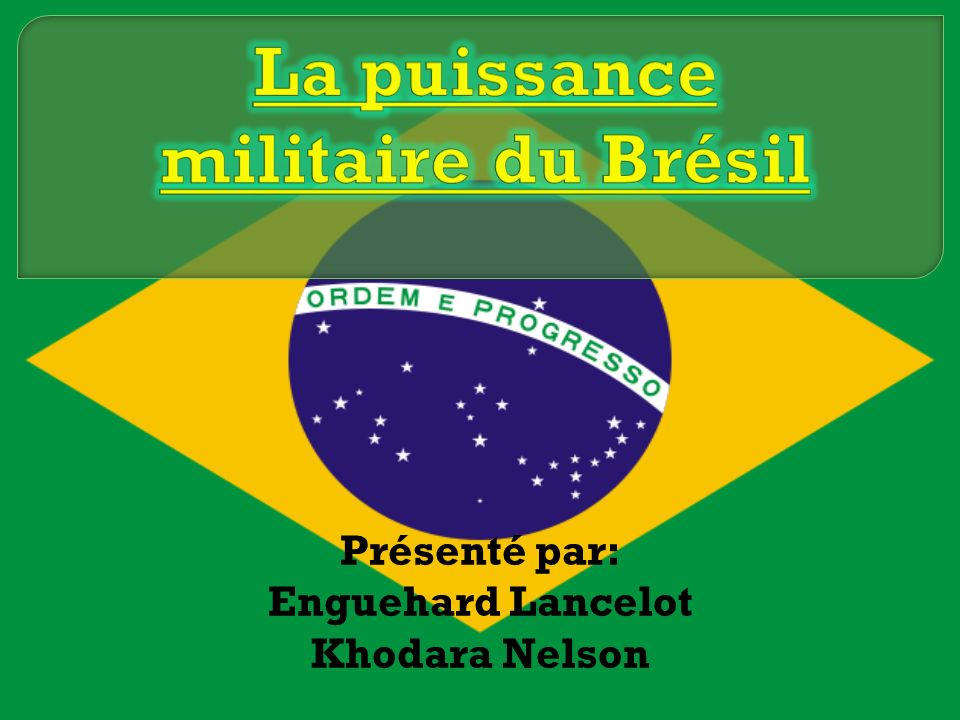 La puissance militaire du Brésil