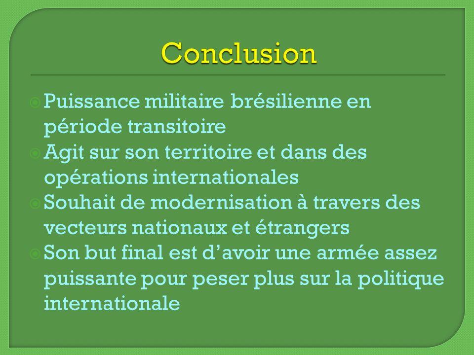 Conclusion Puissance militaire brésilienne en période transitoire