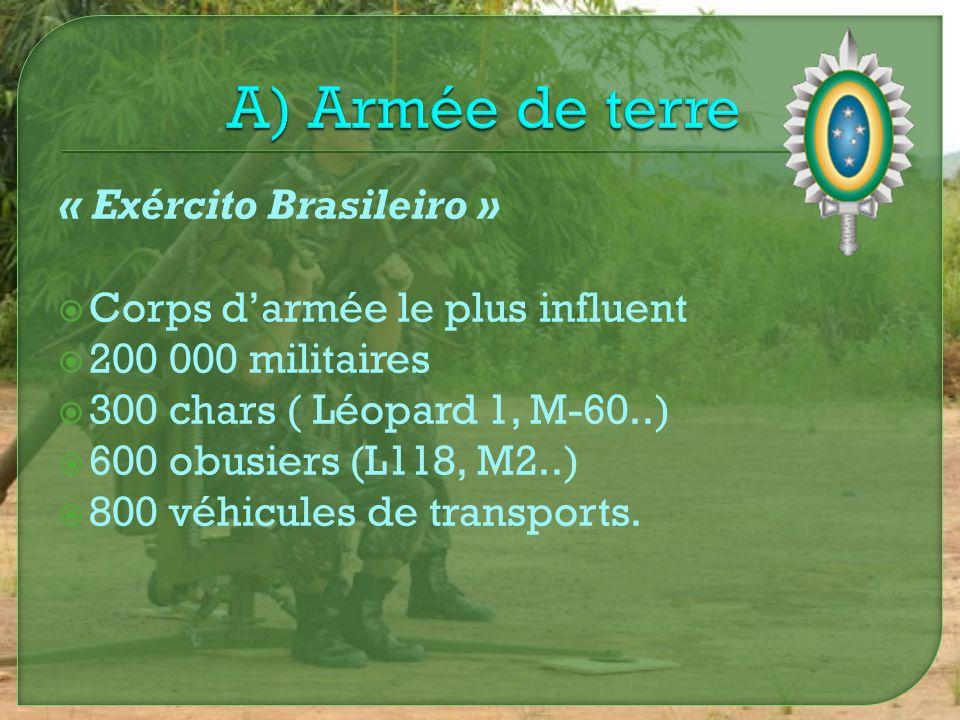 A) Armée de terre « Exército Brasileiro »