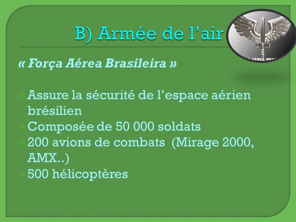 B) Armée de l'air « Força Aérea Brasileira »