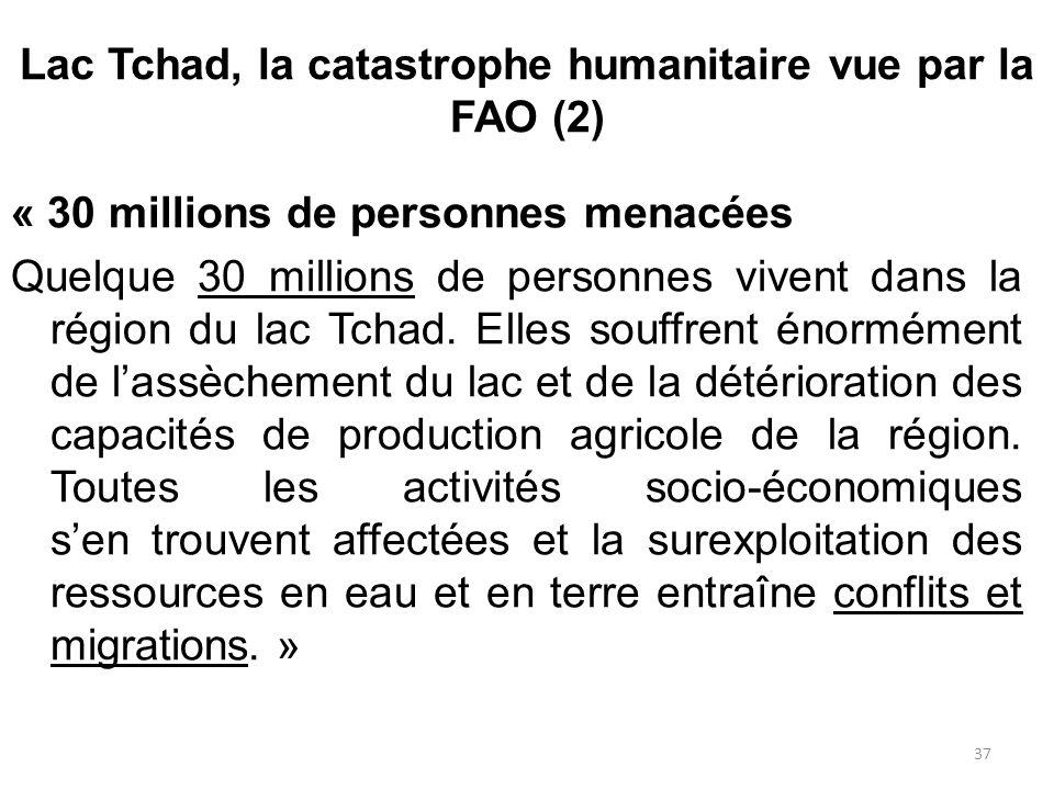 Lac Tchad, la catastrophe humanitaire vue par la FAO (2)