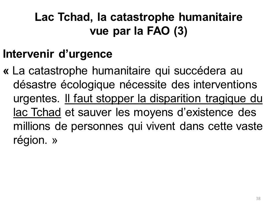 Lac Tchad, la catastrophe humanitaire