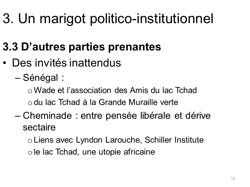 3. Un marigot politico-institutionnel