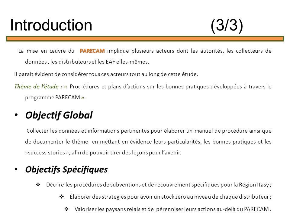 Introduction (3/3) Objectif Global Objectifs Spécifiques