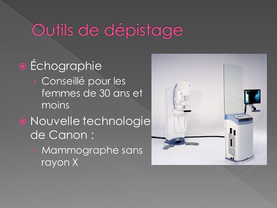 Outils de dépistage Échographie Nouvelle technologie de Canon :