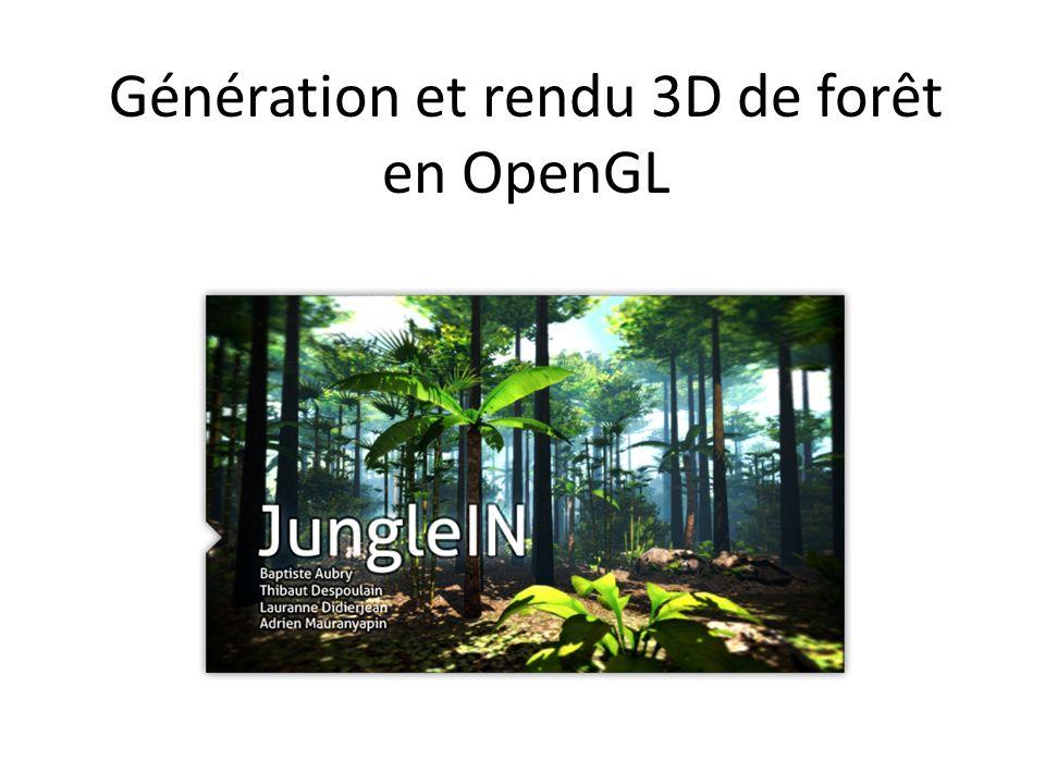 Génération et rendu 3D de forêt en OpenGL