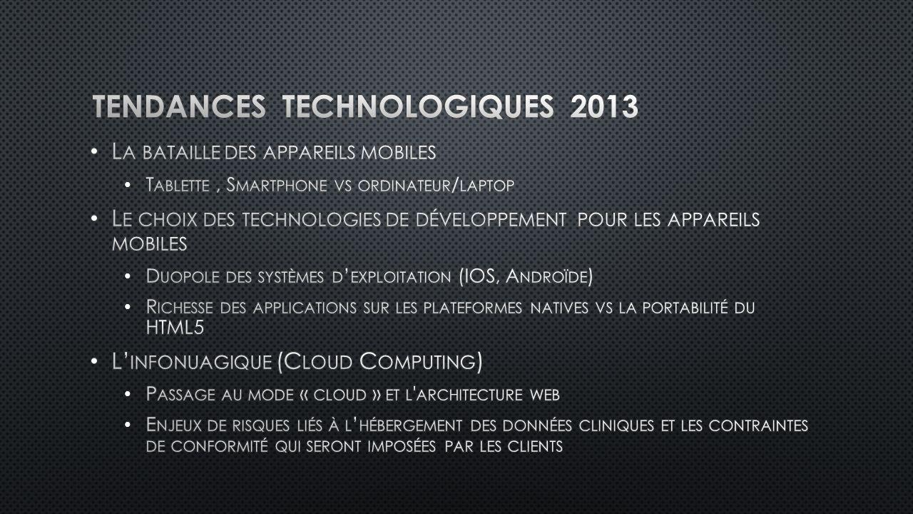 Tendances technologiques 2013