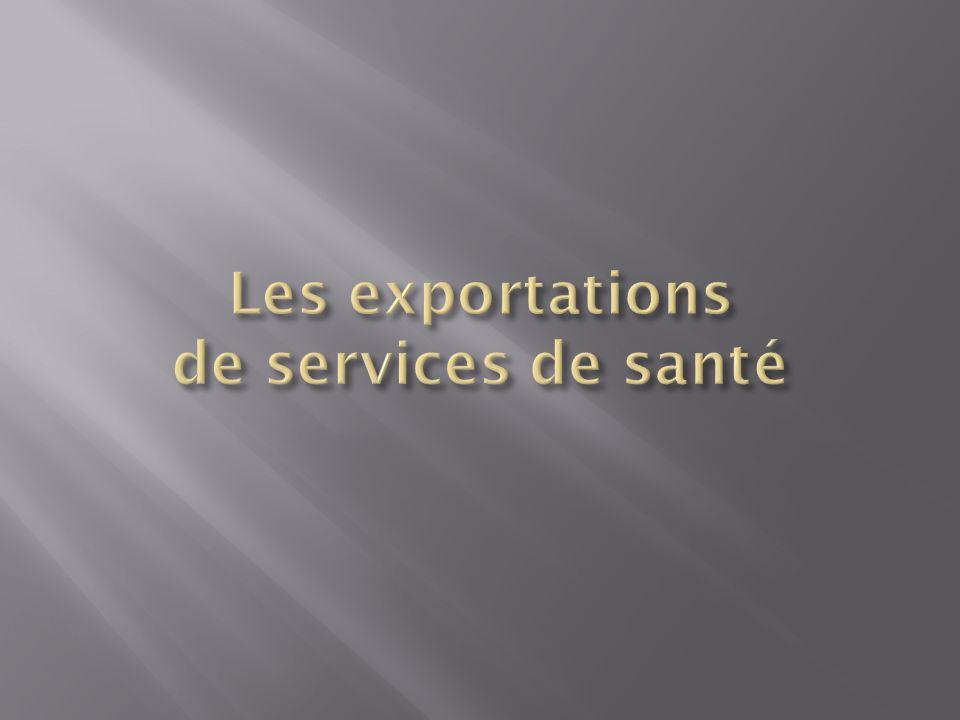 Les exportations de services de santé
