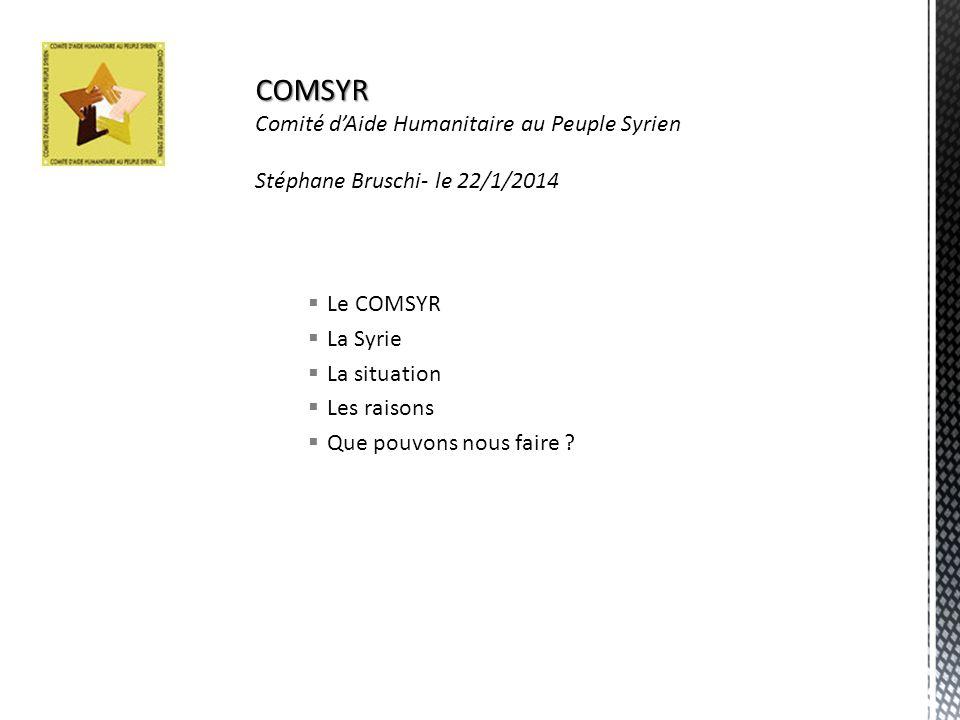 COMSYR Comité d'Aide Humanitaire au Peuple Syrien