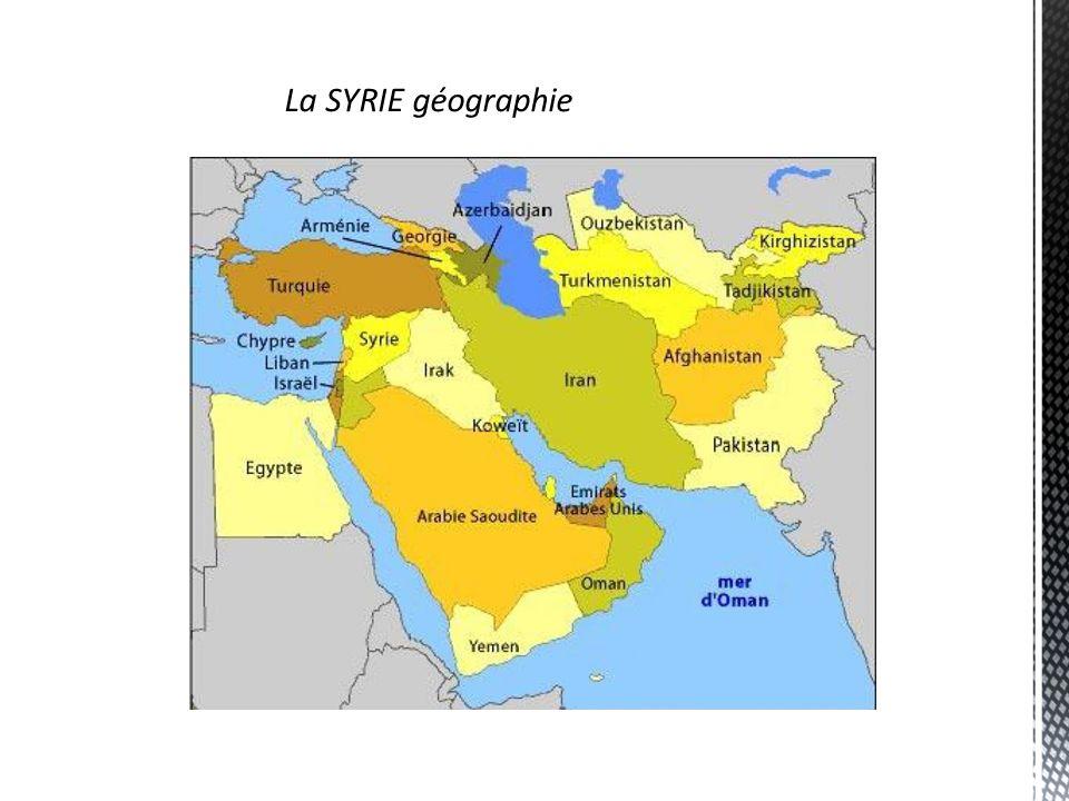 La SYRIE géographie