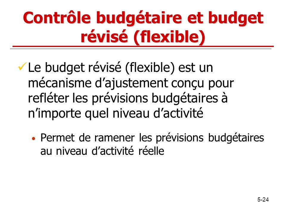 Contrôle budgétaire et budget révisé (flexible)