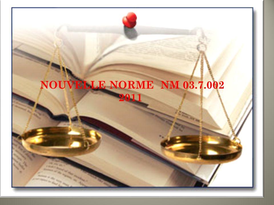 NOUVELLE NORME NM 03.7.002 2011