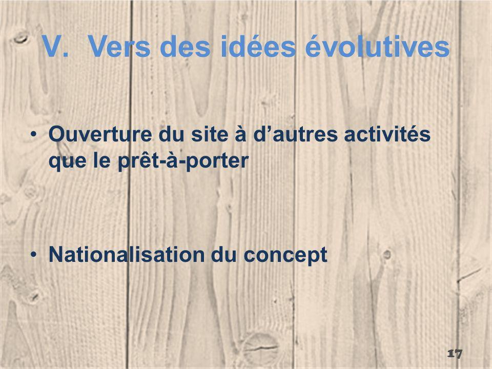 Vers des idées évolutives