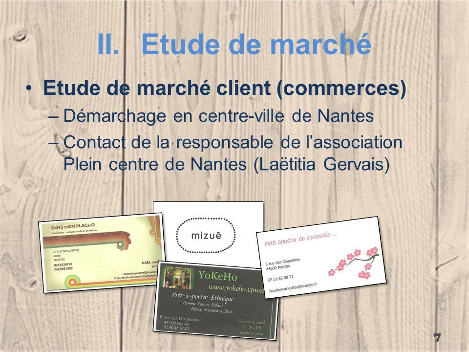 Etude de marché Etude de marché client (commerces)