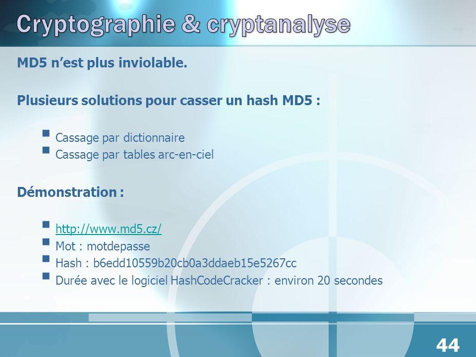 Cryptographie & cryptanalyse