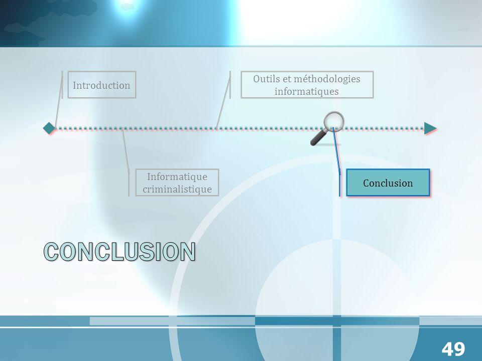 Conclusion Outils et méthodologies informatiques Introduction