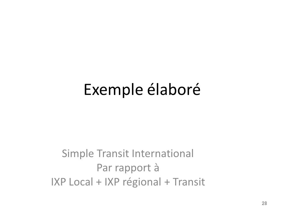 Exemple élaboré Simple Transit International Par rapport à