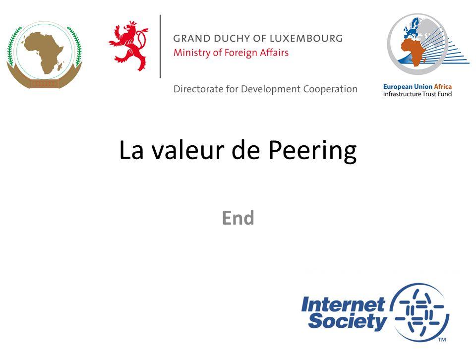 La valeur de Peering End