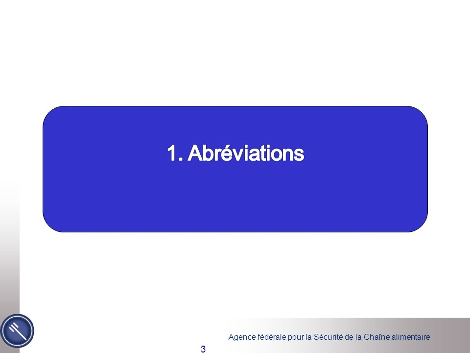 1. Abréviations