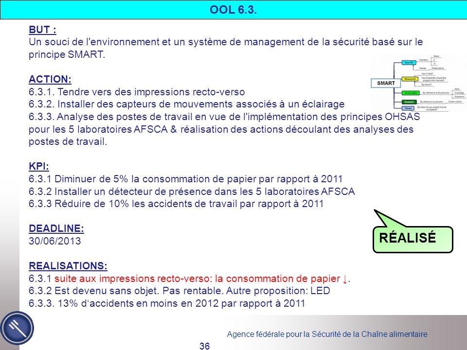 OOL 6.3. BUT : Un souci de l environnement et un système de management de la sécurité basé sur le principe SMART.