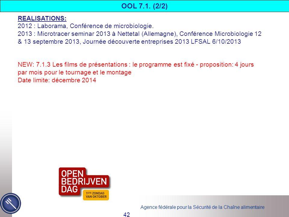 OOL 7.1. (2/2) REALISATIONS: 2012 : Laborama, Conférence de microbiologie.