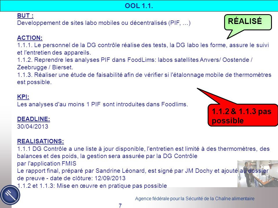 RÉALISÉ 1.1.2 & 1.1.3 pas possible OOL 1.1. BUT :