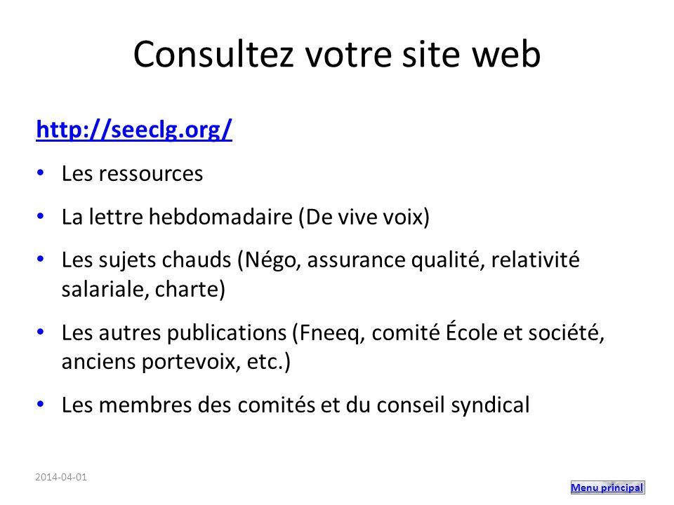 Consultez votre site web