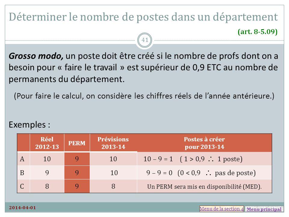 Déterminer le nombre de postes dans un département (art. 8-5.09)