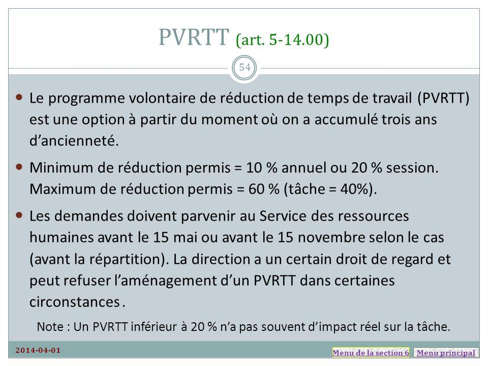 PVRTT (art. 5-14.00)