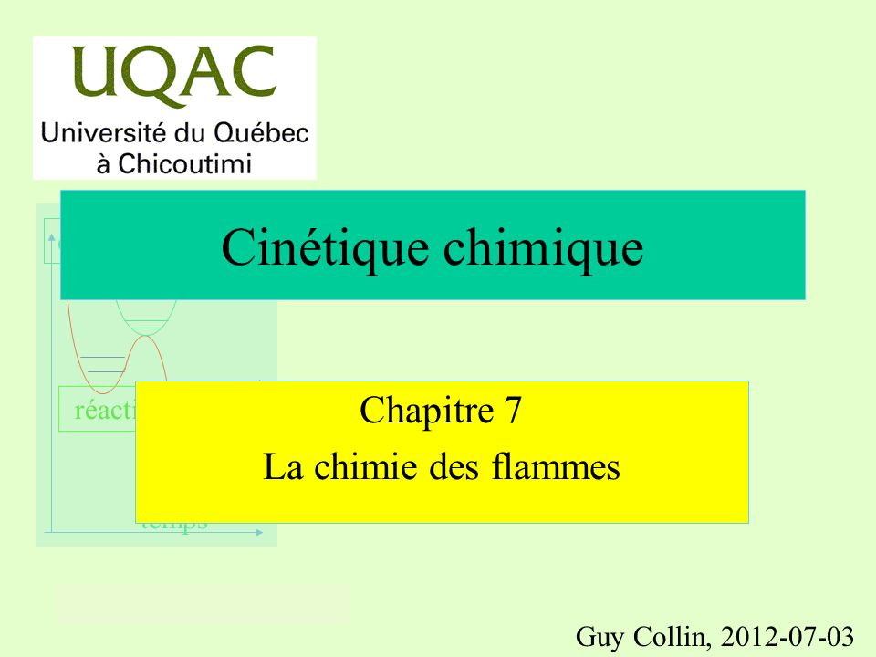 Chapitre 7 La chimie des flammes