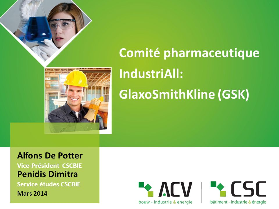 Comité pharmaceutique IndustriAll: GlaxoSmithKline (GSK)