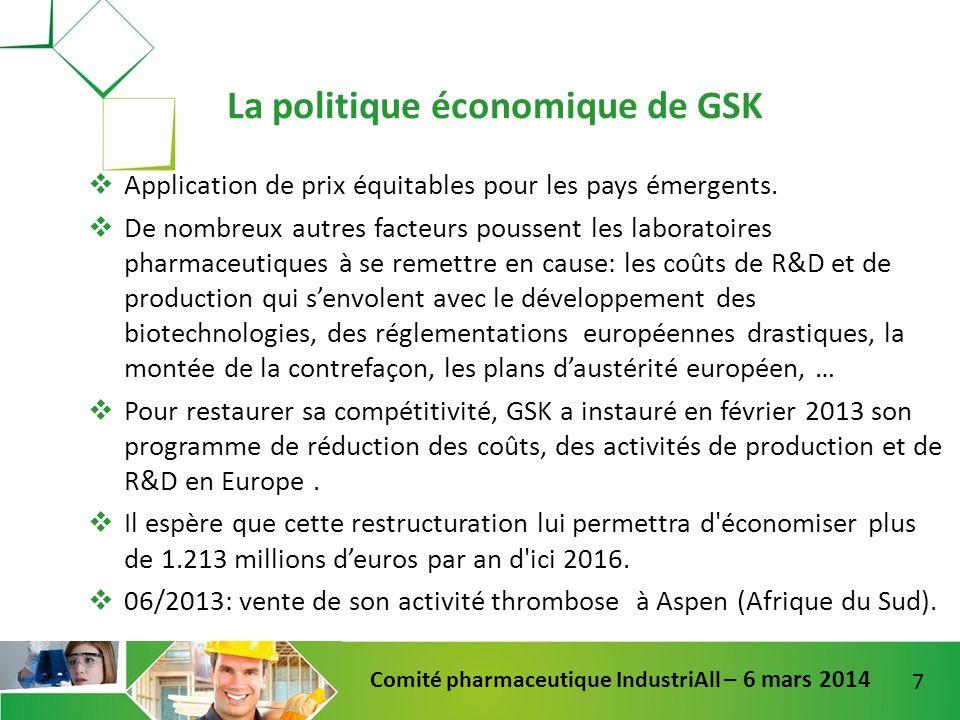 La politique économique de GSK