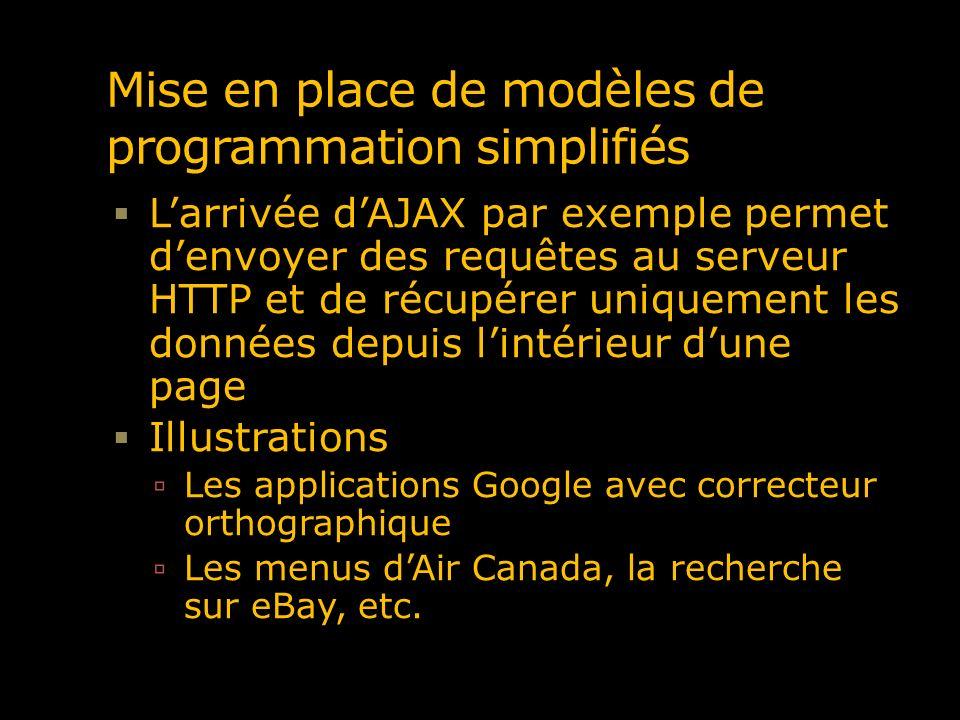 Mise en place de modèles de programmation simplifiés